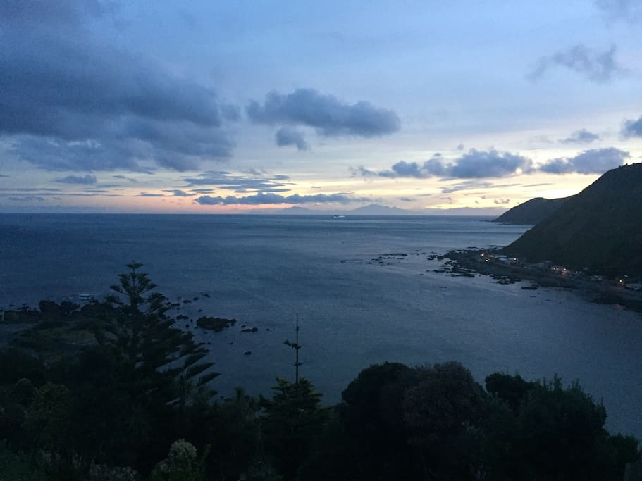 Stunning views of Island Bay from the location