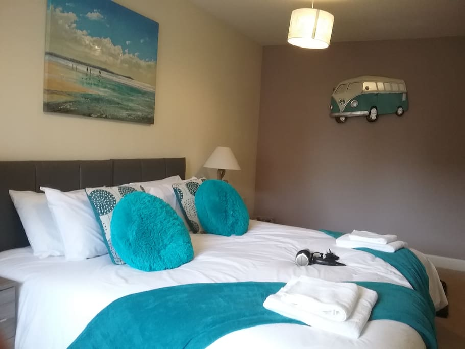 Second bedroom -  is beach and teal your taste ?