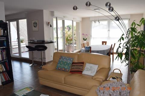 Appartement   proche Strasbourg avec terrasse