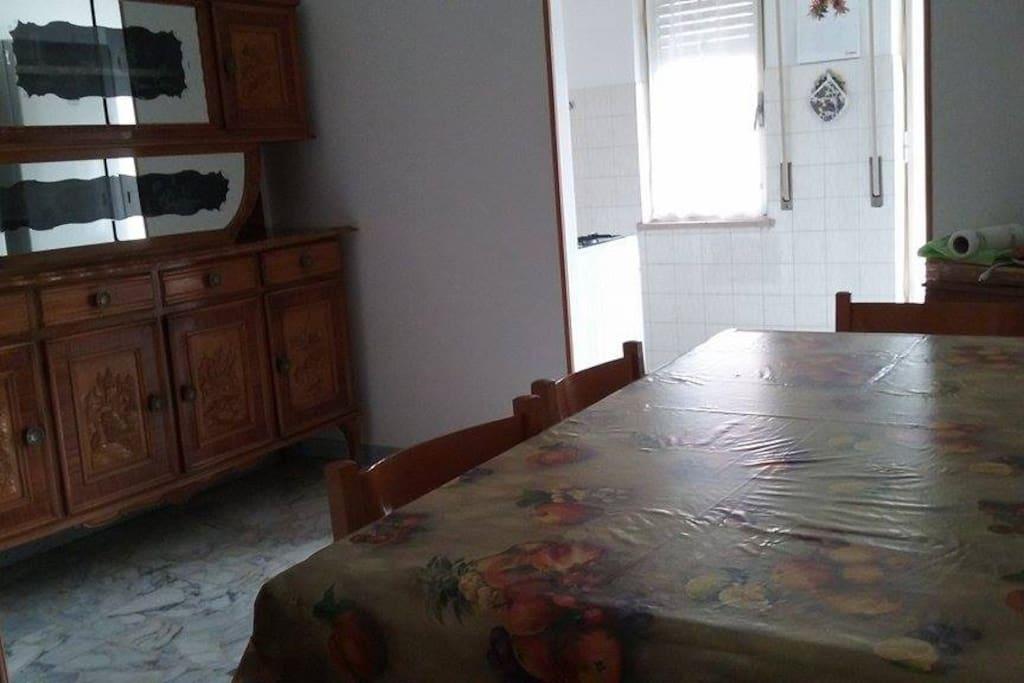 La sala e la cucina