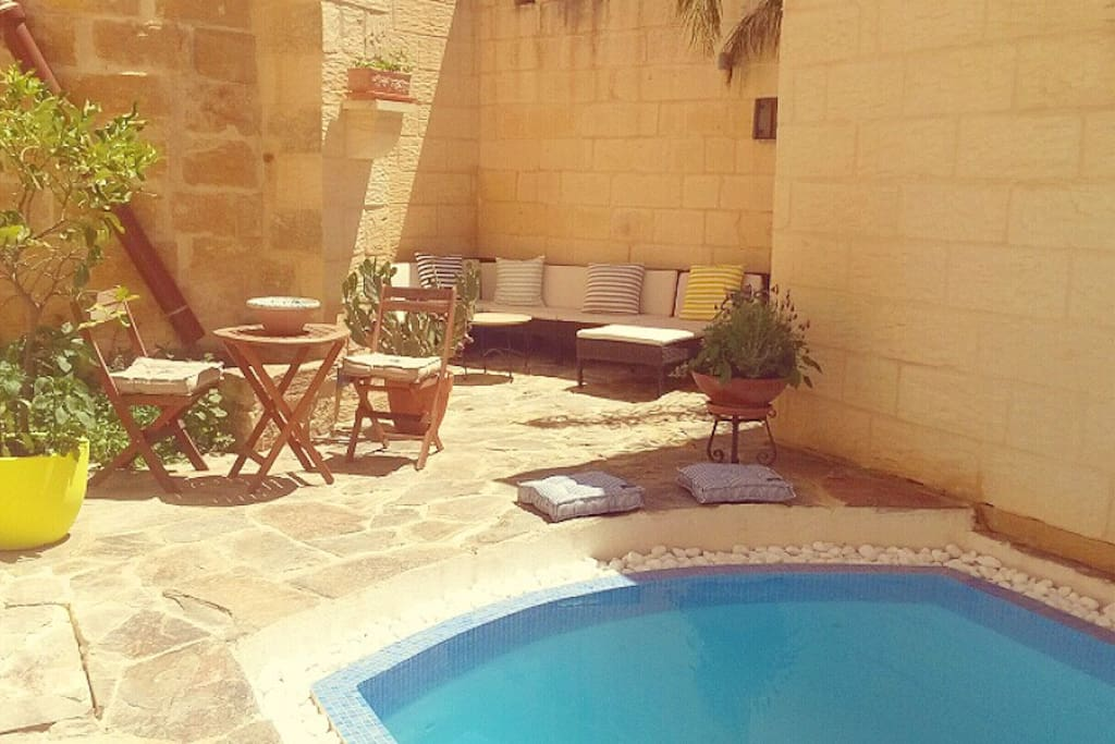 Take a dip in the pool or relax on our sun lounger