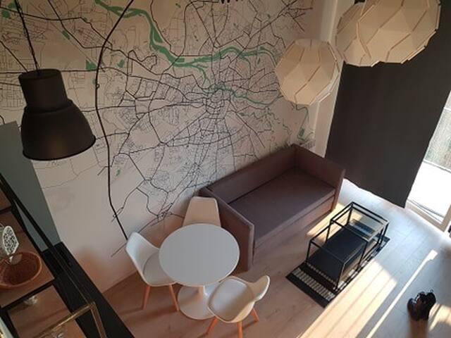 Nowoczesny apartament przy Wrocławskim lotnisku