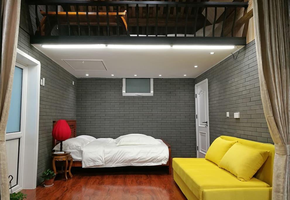 卧室-楼上楼下loft结构