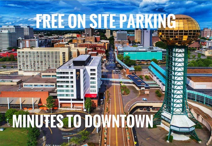 We are less than two miles to downtown, about a 20 to 30 minute walk or a quick Uber ride! Free onsite parking and overflow street parking at The Glenwood Inn