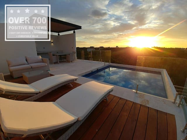 ☆ Studio Penthouse ☆ Terrace | Private pool!