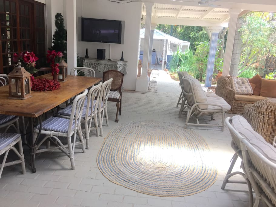 Covered Patio Outside Breakfasts