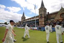 The Cheltenham Cricket Festival is one of the most loved events on the sporting calendar. The idyllic setting of Cheltenham College provides the perfect backdrop for cricket at the height of the summer. Just cross over & stroll up the road!