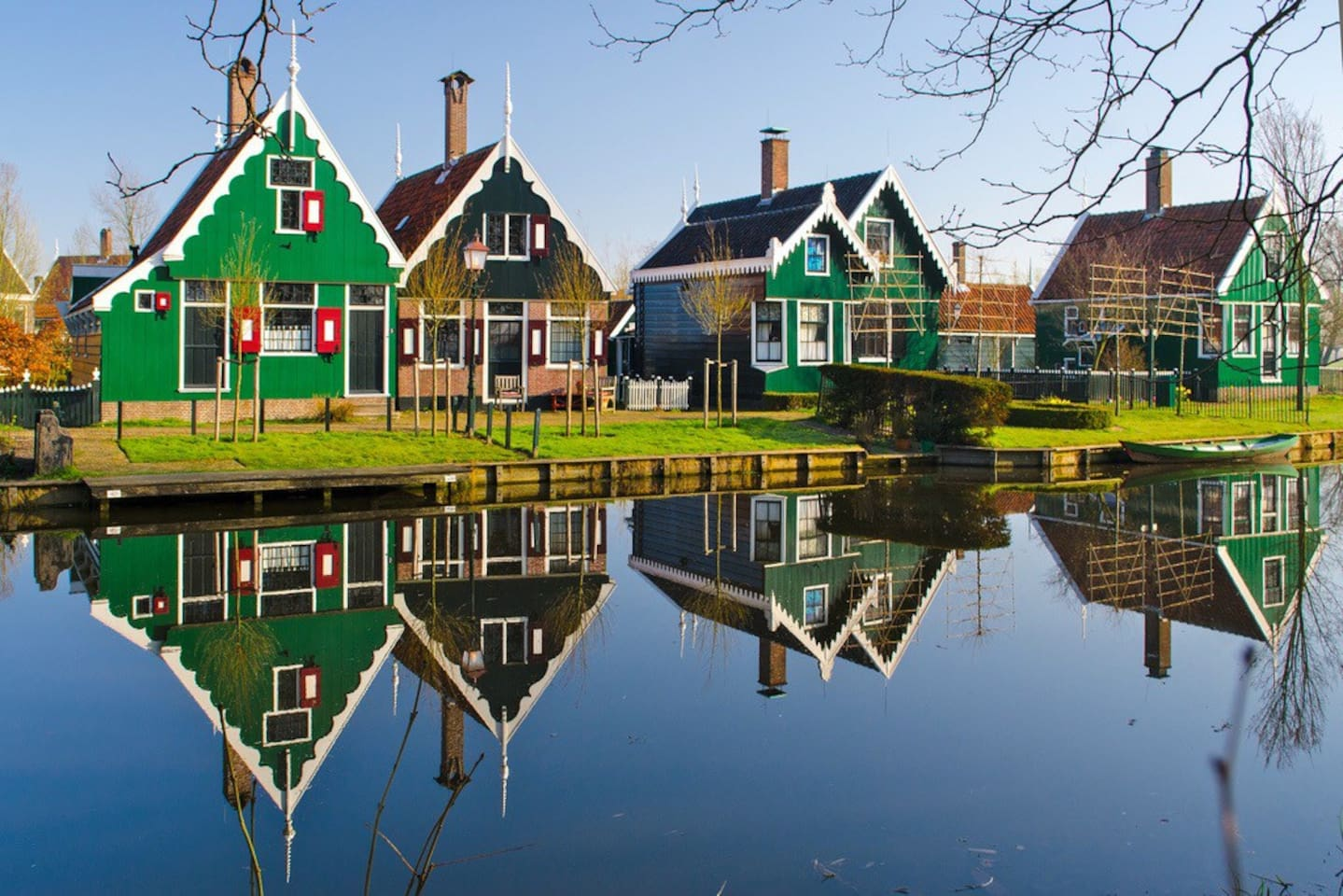 Zaanse Schans, is 41 min by car and 2 hours with public transport from our house.