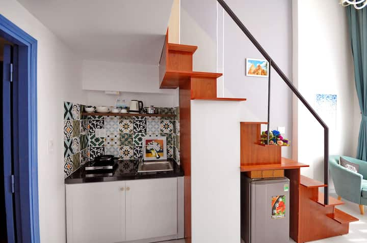 L02-The Cozy Stylish Mini Loft, near the beach.