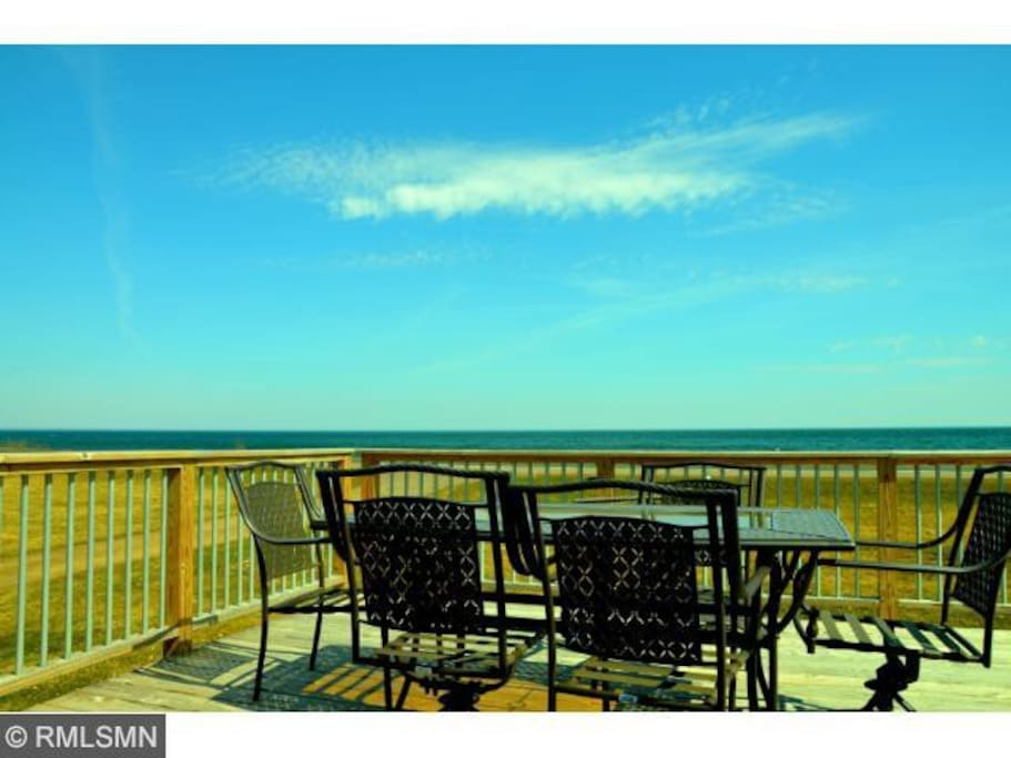 This large front deck is the perfect spot to watch the sunrise with a nice warm cup of coffee in the morning.