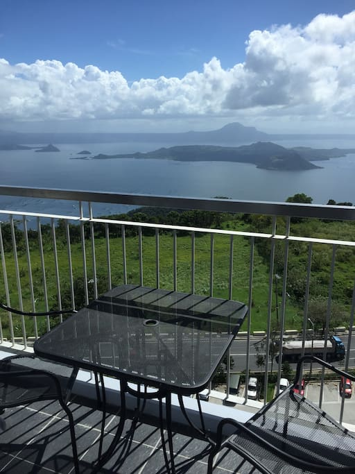 Balcony overlooking Taal