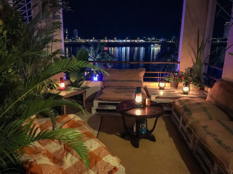 Private Terrace overlooking the river