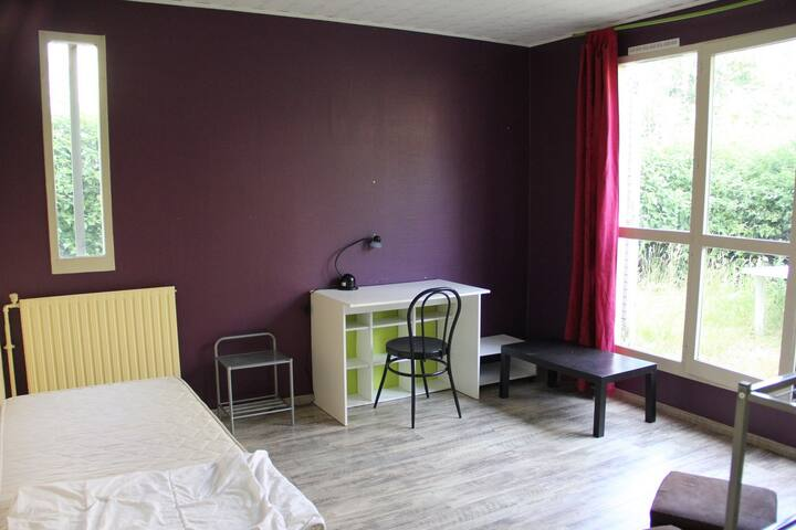 Private bedroom in 5 bedrooms flat with garden - Cergy - Apartment