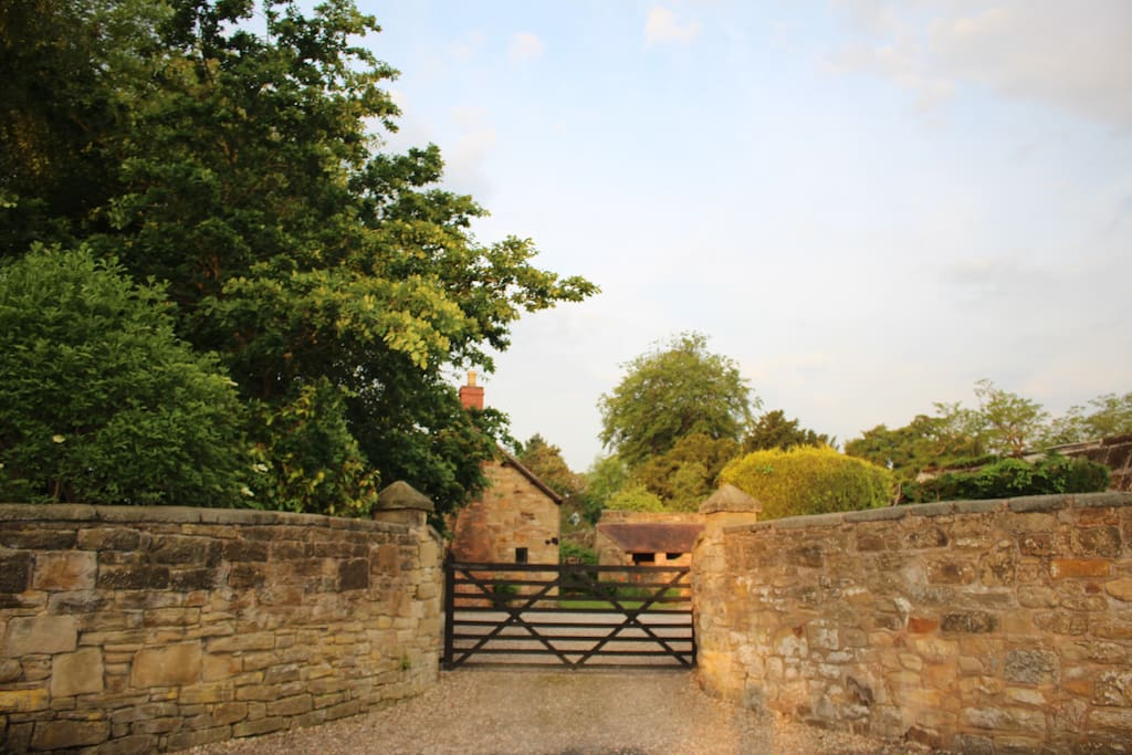 Entrance gate to the Byre at Hall Farm Holiday Cottages
