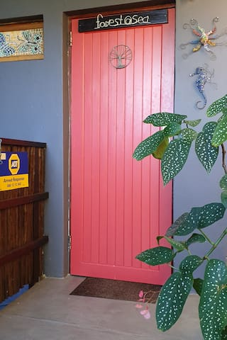 Colourful private entrance to Forest@Sea