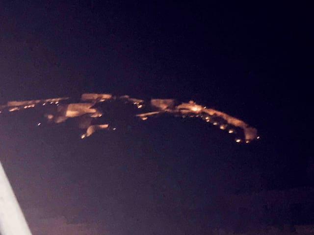 Palamidi Historic Castle from my veranda by night