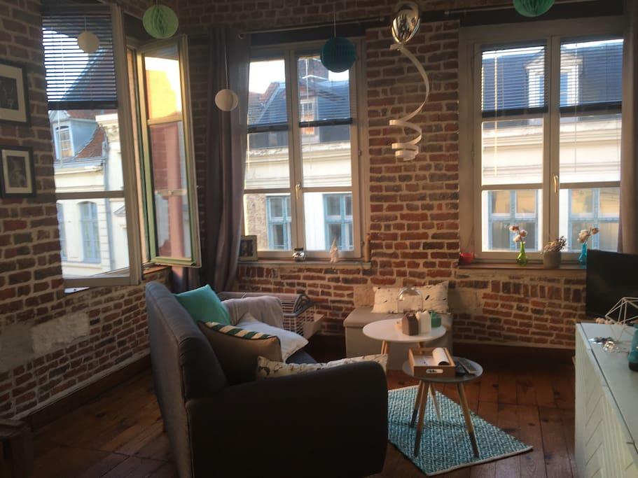 studio cosy hyper centre de lille appartements louer lille nord pas de calais picardie. Black Bedroom Furniture Sets. Home Design Ideas