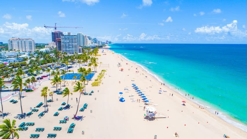 "Fort Lauderdale Beach ""STRIP"" is world famous, miles of sand, dinning, dancing, sunset walk its safe."