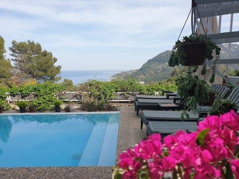 villa guidée aux agrumes avec vues sur la mer