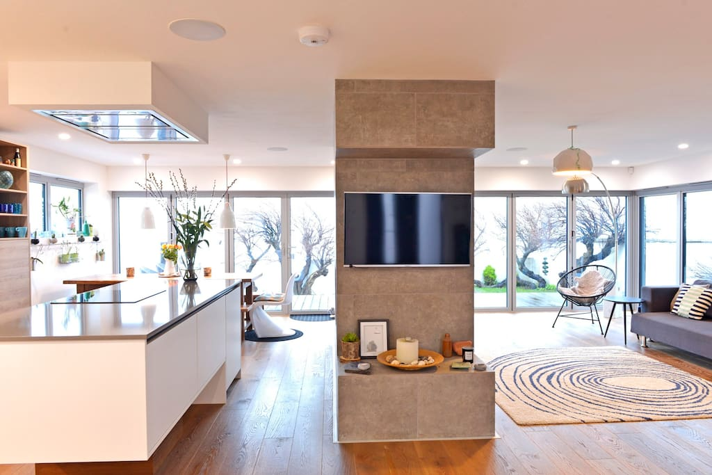 Contemporary open plan living space on ground floor