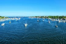 Newburyport city is nestled at the mouth of the Atlantic Ocean on the Merrimack River.