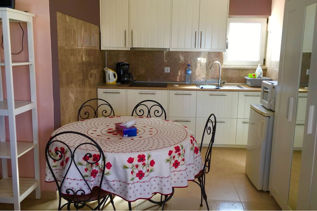 Apartment fully equipped Kitchen and dining area