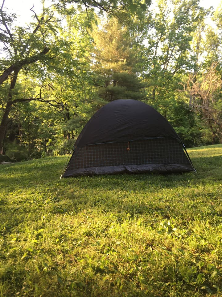 A beautiful spot to camp.  Berks County back roads