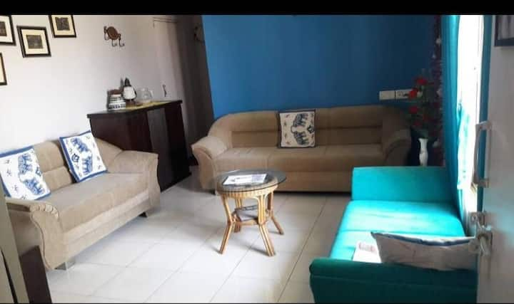 pent house with fully furnished nd open to sky.