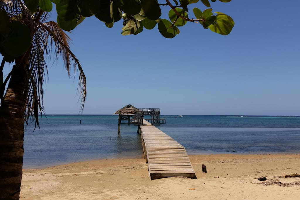 2 sets of snorkel equipment available as our guest for snorkeling our gorgeous reef right off our private 2-story pier!