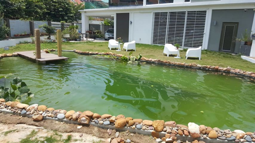 Private Natural swimming pool house - Puchong - Casa de campo