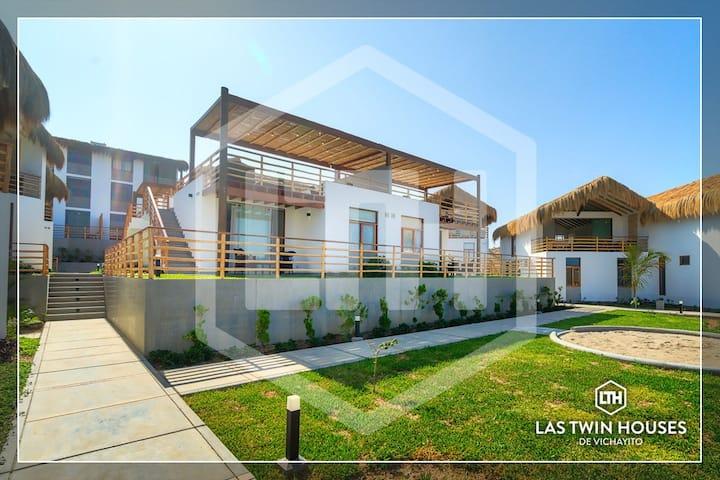 Las Twin Houses  de Vichayito - B1 aire acondicion