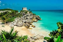 Tulum is only a 45 minute drive away.