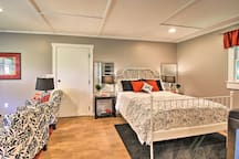 Relax on the comfortable queen bed.