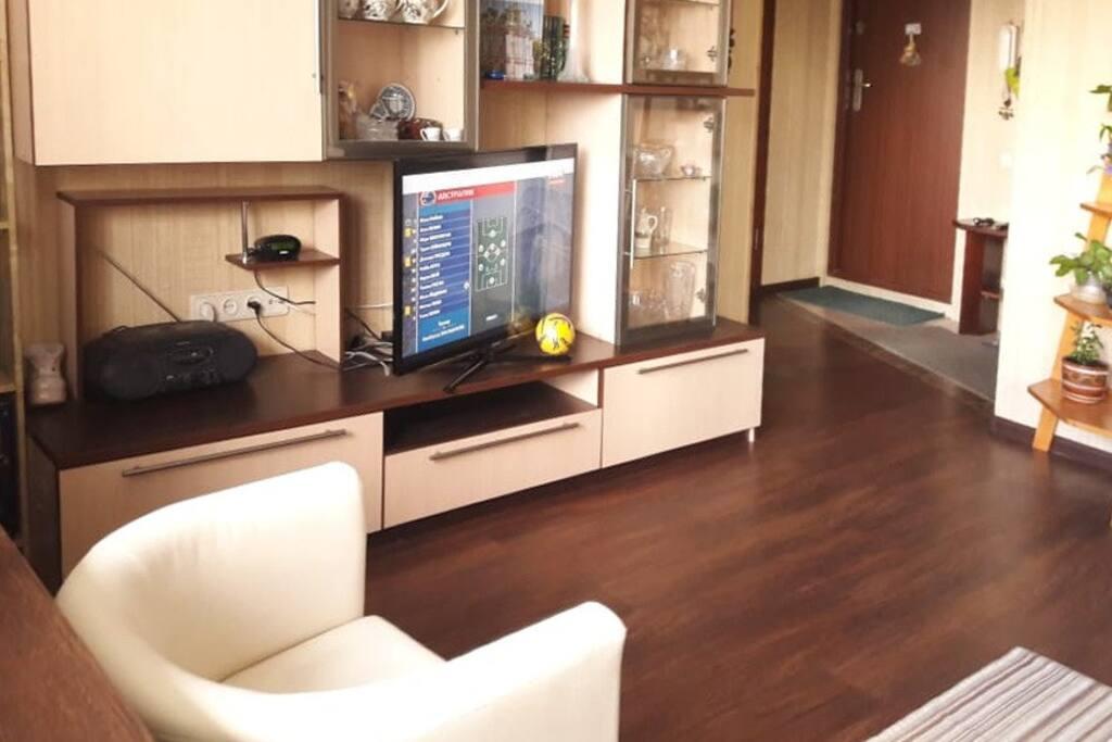 Большой TV в комнате