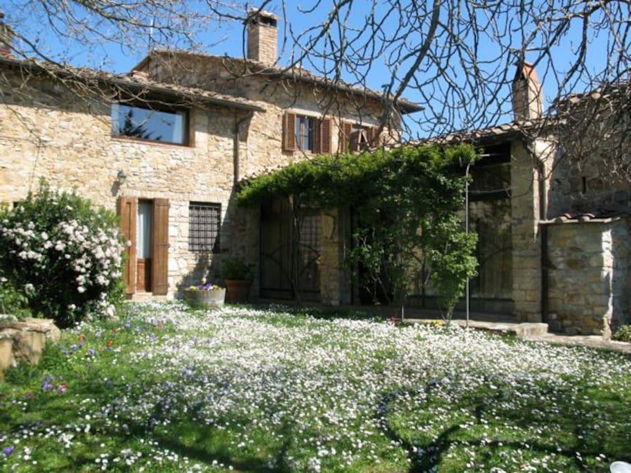 Farmhouse Poggetto in Springtime