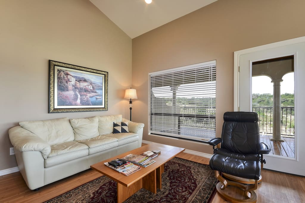 Walking in you will be amazed by our open and spacious living area with vaulted ceilings.