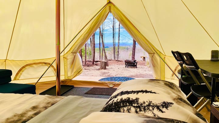 Glamping on the Mountain Top