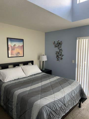 Upstairs - Master Bedroom with queen bed