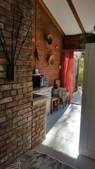 Natural brick adds to the African feel
