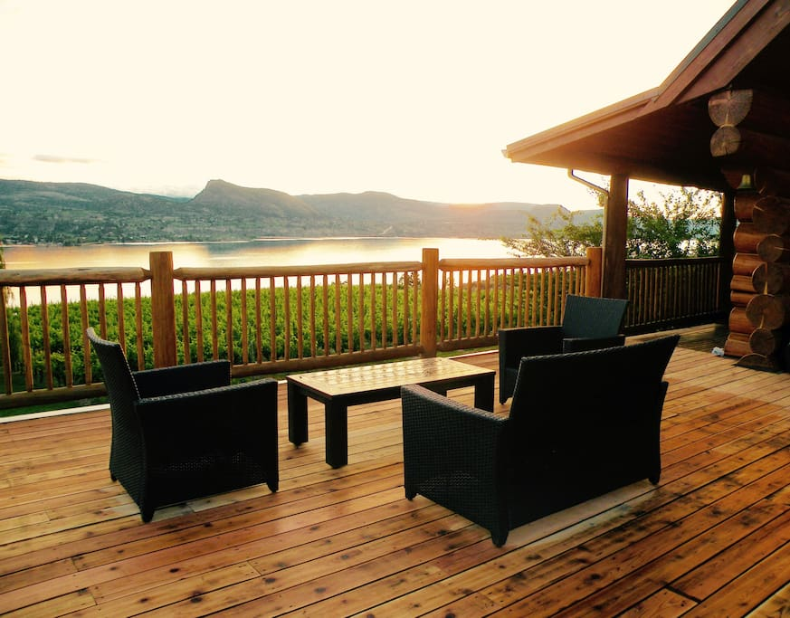 Enjoy the view from your private 1500 sq foot deck!