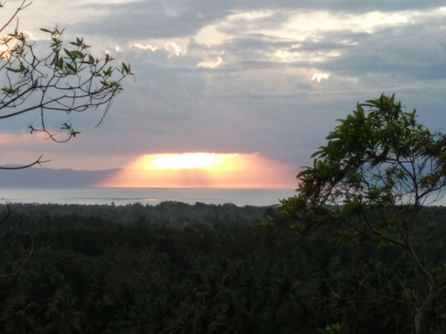 Sunset voew of the property
