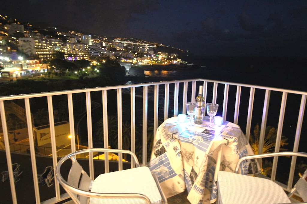 Romantic view from a balcony