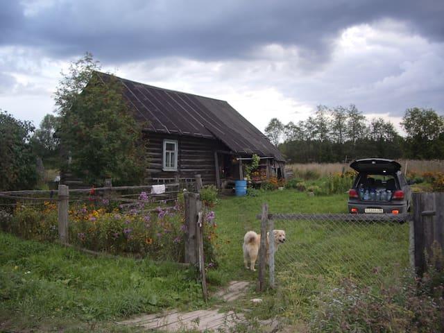 Дом в тихом, зеленом месте у Речки
