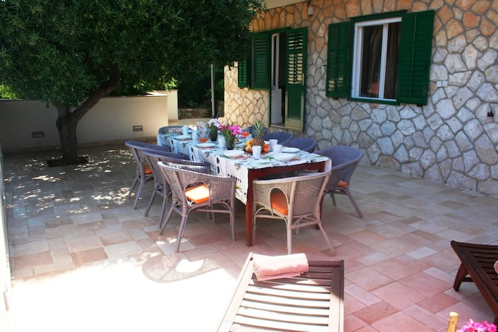 Spacious Villa just 50m from beach, large terrace