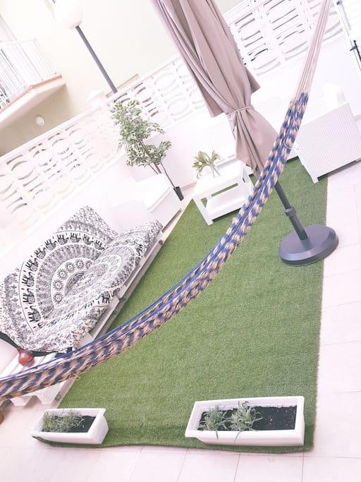 preciosa terraza modo relax ON¡!