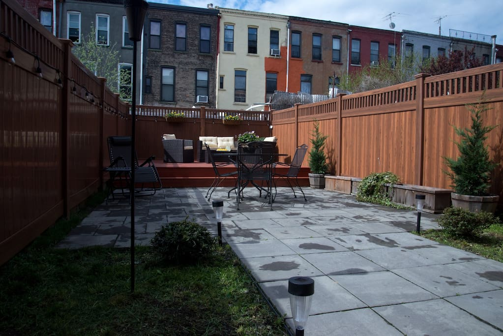 Revel in rare outdoor Mott Haven living space. Quiet, peaceful and south-facing for plenty of late afternoon into evening sun, it is the perfect place to unwind