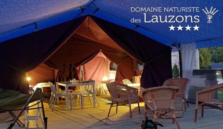 """lodge en camping naturiste """"les lauzons"""""""