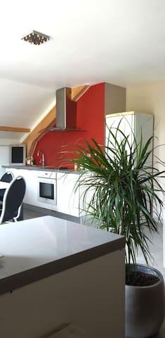 Appartement indépendant ds maison entre 2 lacs.