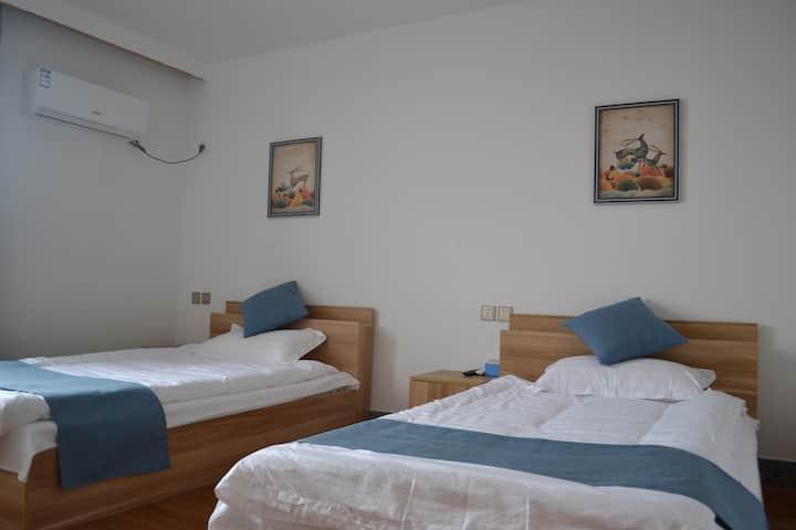 《遇见厝院》养马岛中国的马尔代夫精品民宿双床房