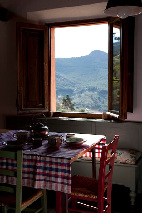 vista dalla cucina